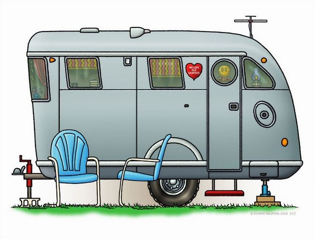 Whimsical Spartan Travel Trailer