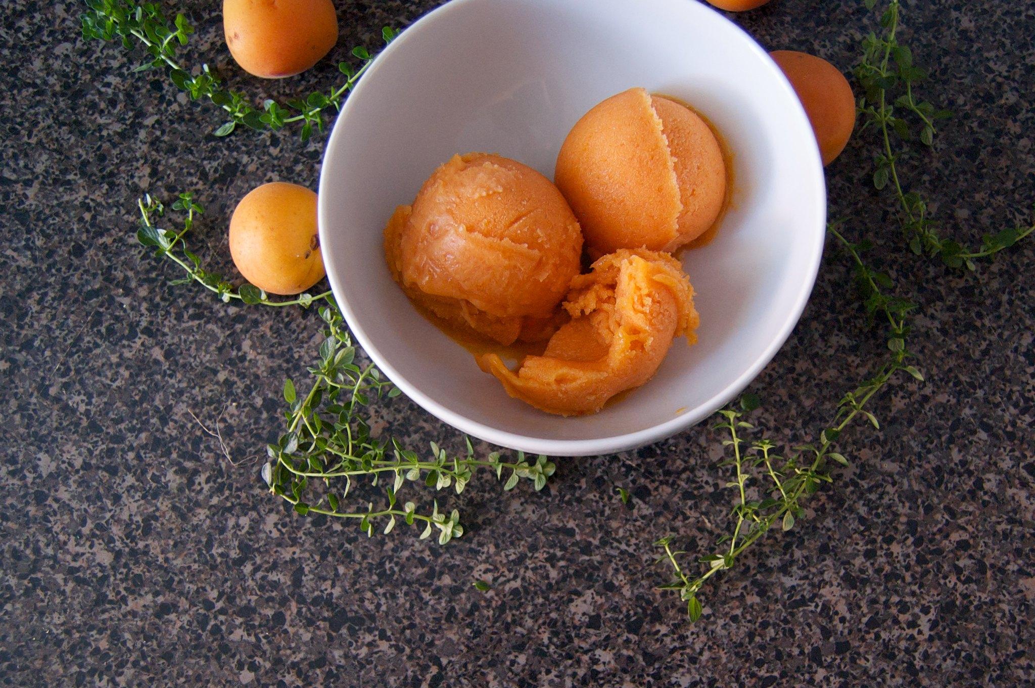 Apricot Thyme Sorbet
