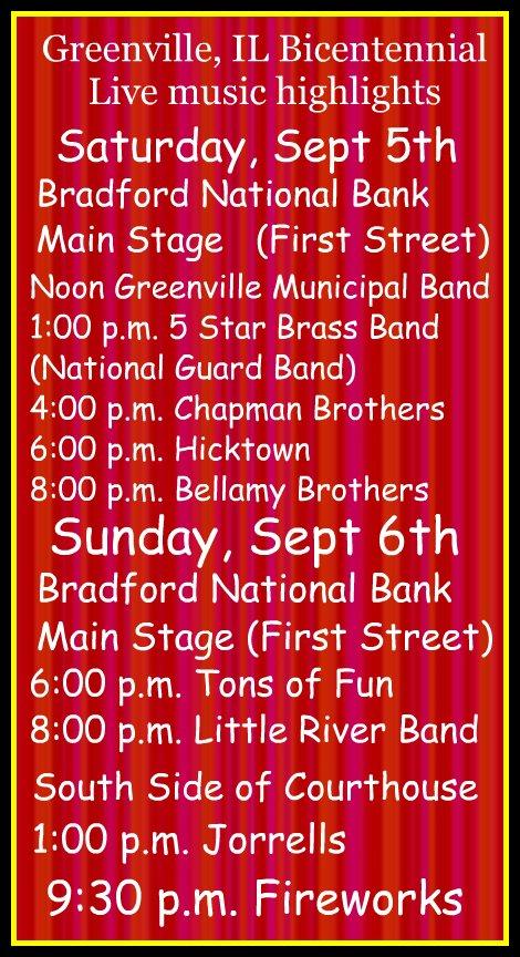 Greenville Bicentennial 9-5, 9-6-15