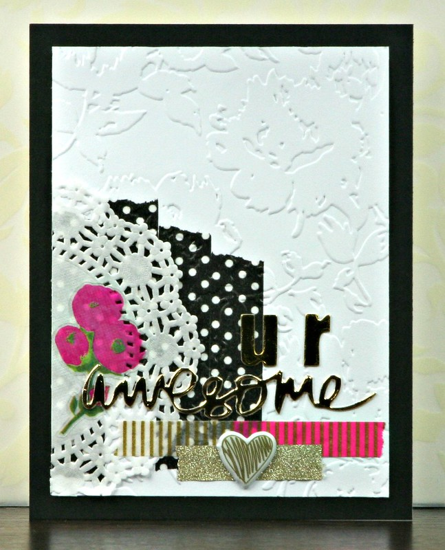 Retro Sketches 182 U R Awesome Card | shirley shirley bo birley