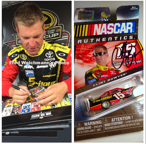 #18-48, Clint Bowyer, Autographed, #15, 5 hour Energy, 1/64th scale Diecast, Blister Pack, Picture Proof,
