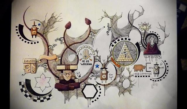 Cosmogonie #01 - Dessin en cours de création