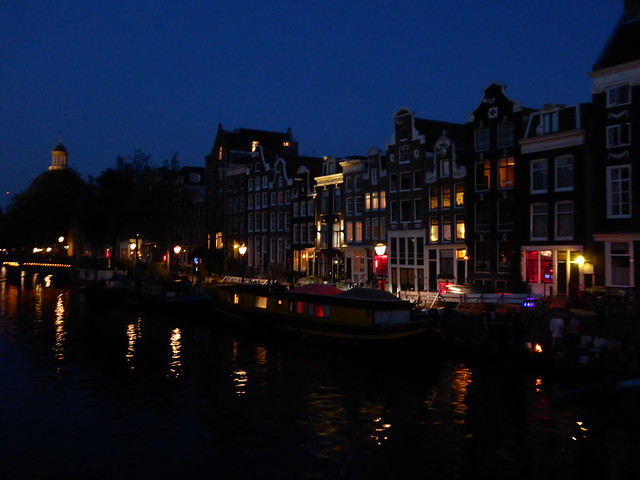 Twilight in Amsterdam's red light district
