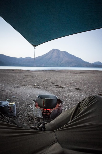 Camping at the Bifue Campground on Lake Shikotsu, Hokkaido, Japan