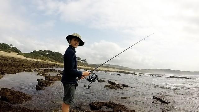 SImon fishing