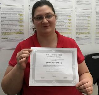 Silvana Staffieri, Reparacion de Credito en Municipal Credit Service Corp