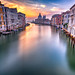 Sunrise on the Grand Canal by Les Ellingham