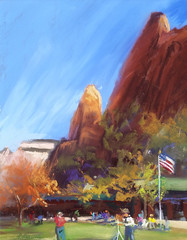 Zion Lodge during 2015 Plein Air Event