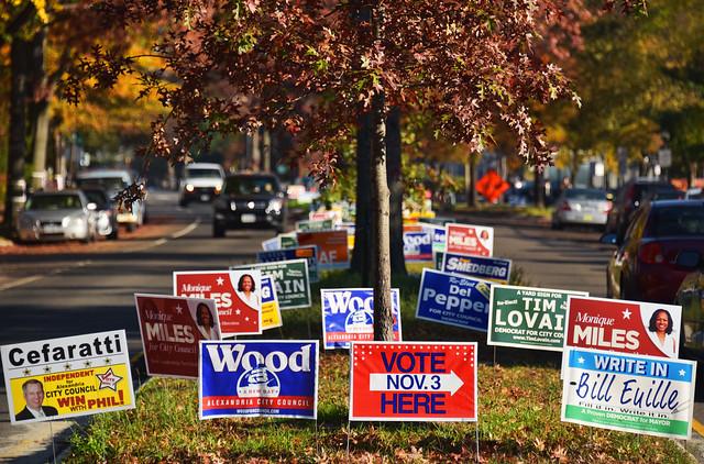 Election day in Alexandria, VA