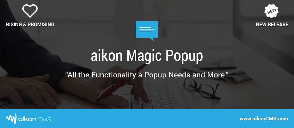 aikon Magic Popup – Popup box in Joomla
