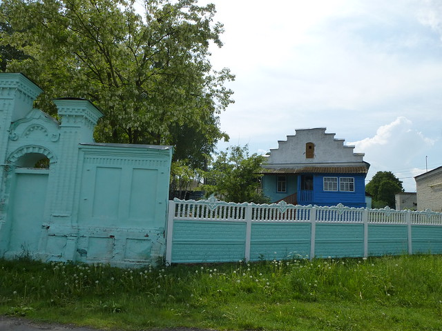 The house and fence