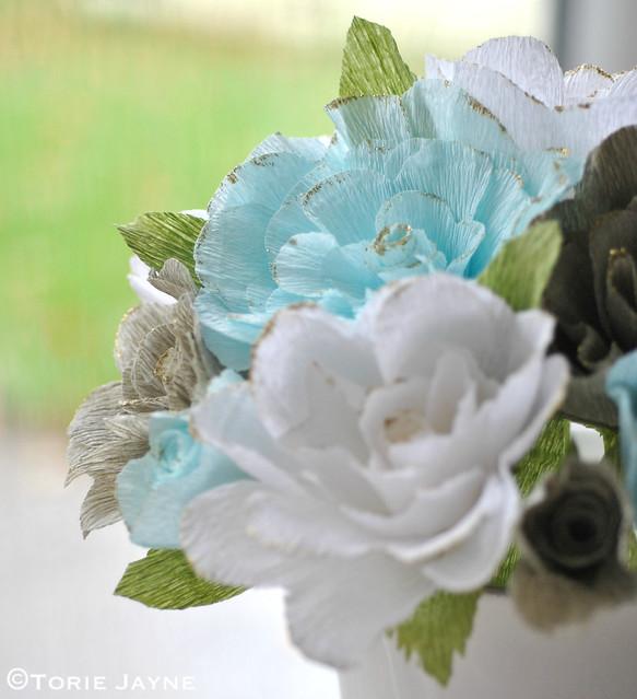Handmade crepe paper roses 1