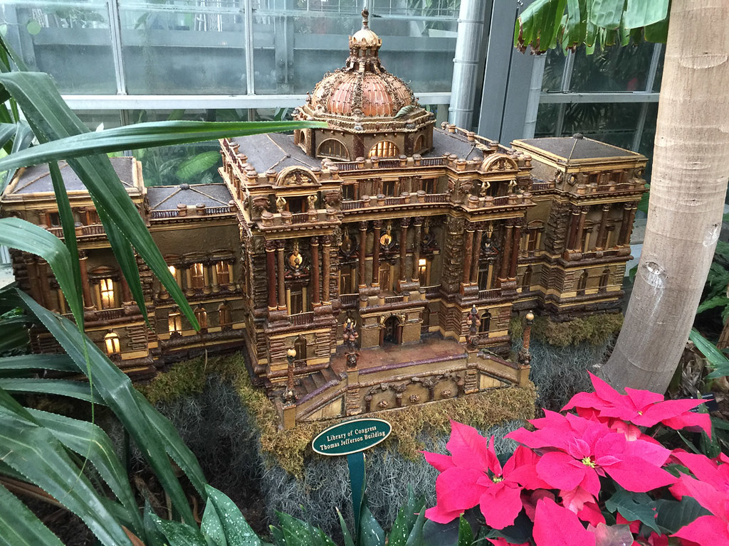 Miniature Library of Congress at U.S. Botanic Garden