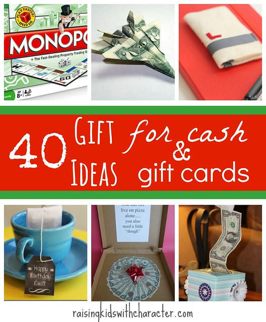 40 Presentation Ideas For Cash Or Gift Cards Character Ink