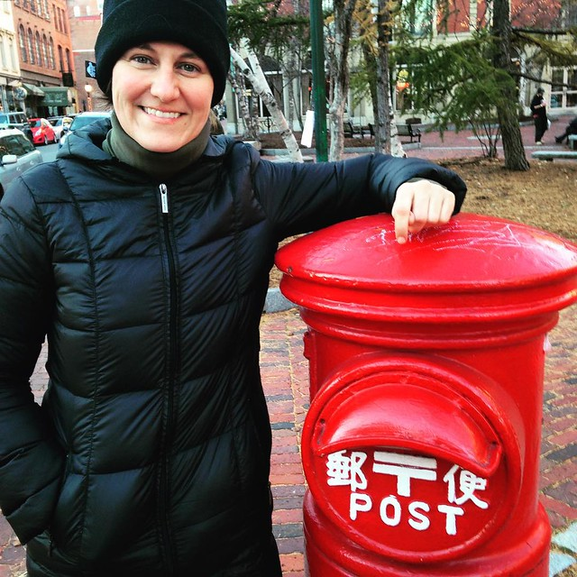 In Portland, #Maine with a #postbox from Japan