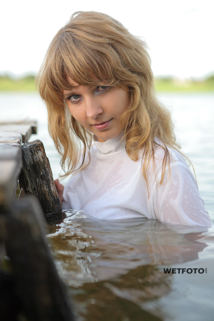 Fully Clothed Blonde Get Soaking Wet On Lake 280  Girl -3862