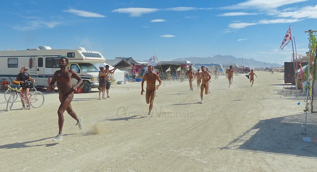 naturist run camp Gymnasium 0004 Burning Man, Black Rock City, NV, USA