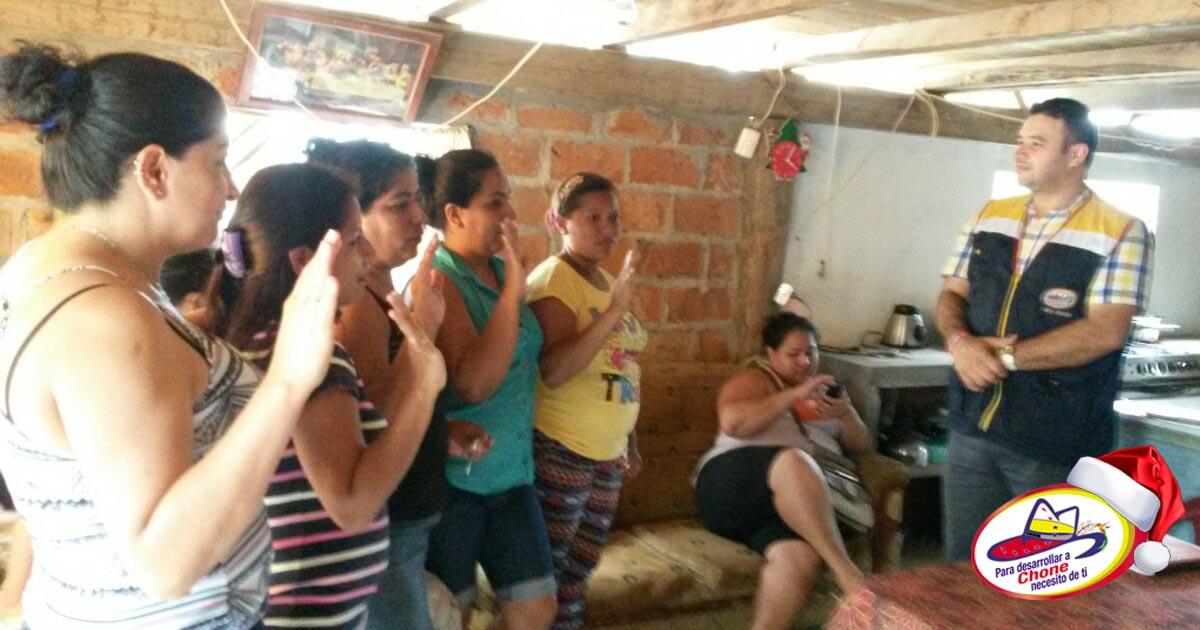 GADM Chone y MAGAP realizan cambio de Cabildo en Comuna Cañales