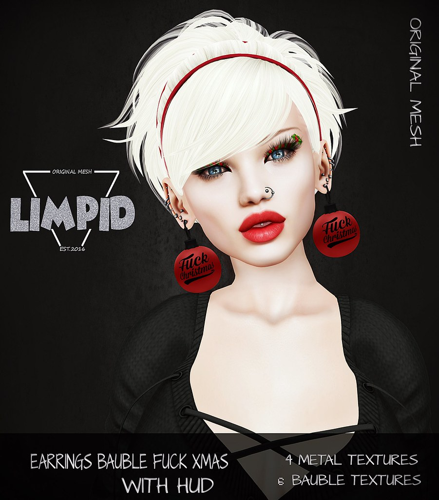 Limpid Earrings Bauble Fuck Xmas Ad - SecondLifeHub.com