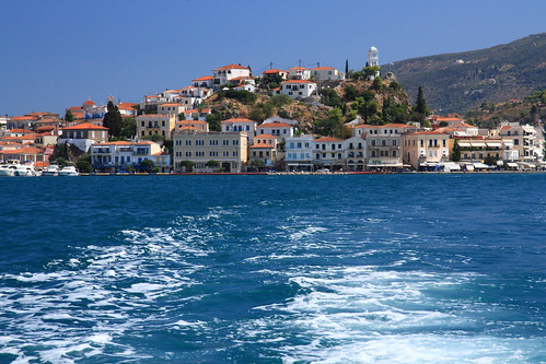 Poros Town from Water Taxi