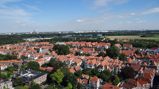 Brielle Den Briel uitzicht vestingstad Sint catharijnekerk