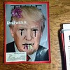 "ee cummings once wrote, ""it is the thing perhaps to eat the flowers and not to be afraid. Donald Trump knows that! He's not afraid. Nope. He'll eat your flowers. **The image was found with the existing sharpie marks this morning at my friends families hid"