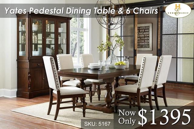 Yates Pedestal Dining Set