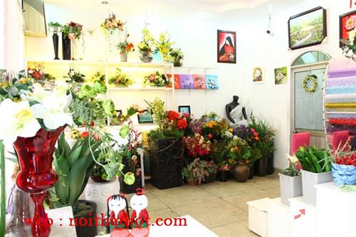 thiết kế cửa hàng hoa tươi thoáng rộng