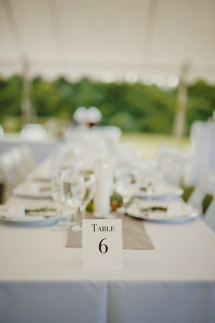 Wedding Recpetion Table Marker - Pat Robinson Photography