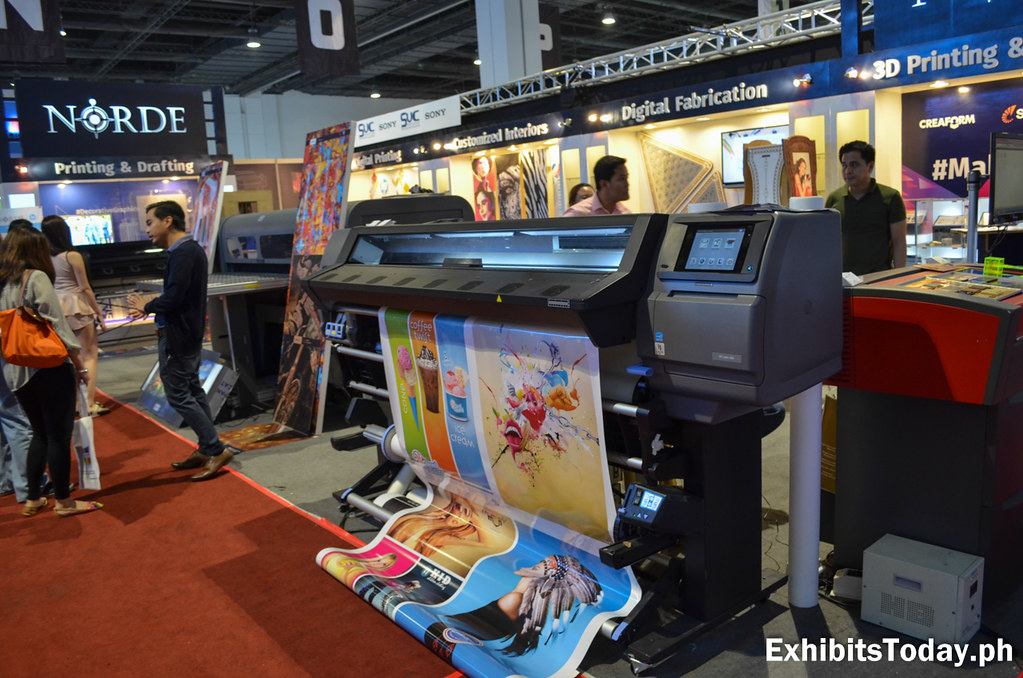Tarpaulin Print at Norde Printing & Drafting Exhibit Booth