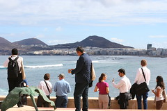 Coffee Break at Las Canteras view
