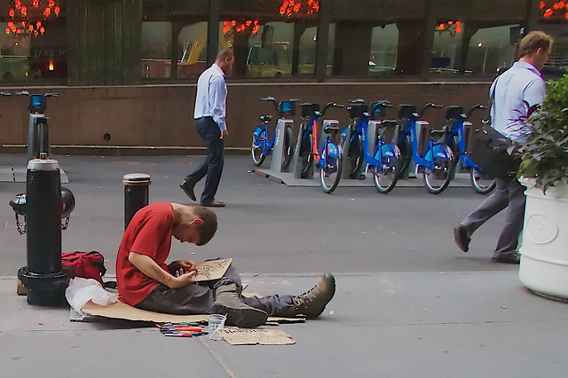 Some people would prefer to pretend that there aren't any homeless people in New York City ...