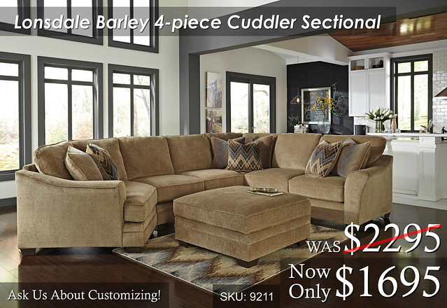 Lonsdale Barley Cuddler Sectional