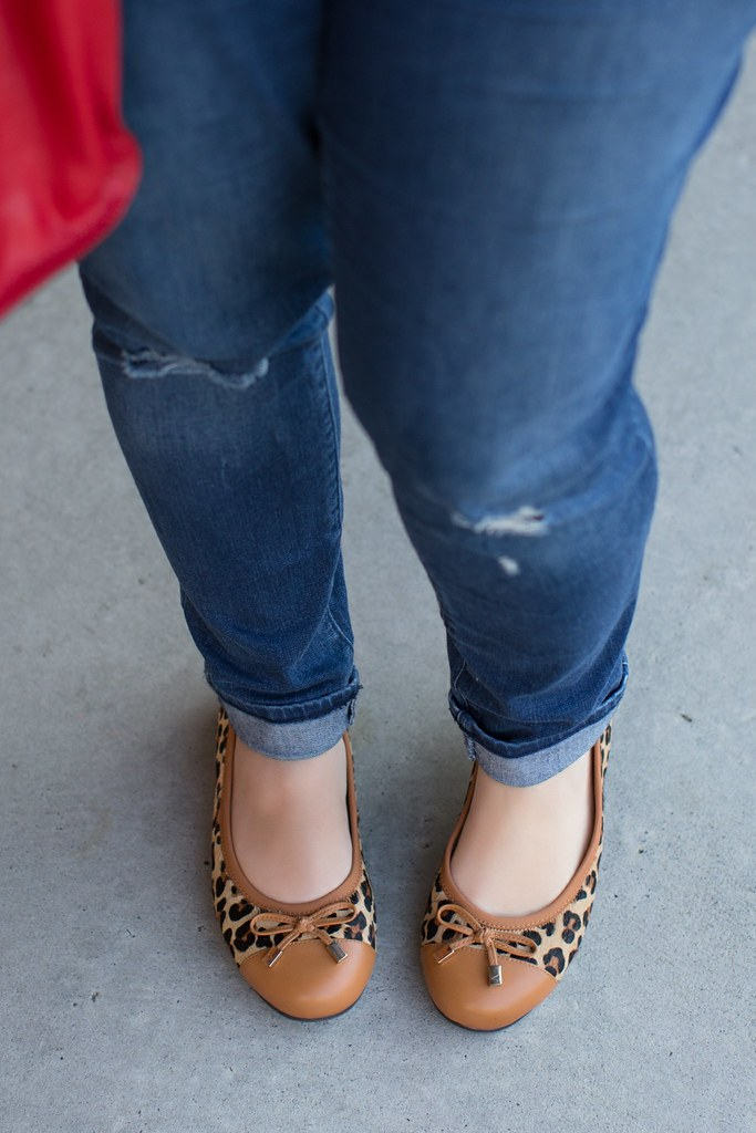 Head to Toe Chic, leopard flats, Fall Outfit Idea