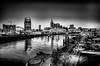 Nashville Tennessee downtown skyline at Shelby Street Bridge by DigiDreamGrafix.com
