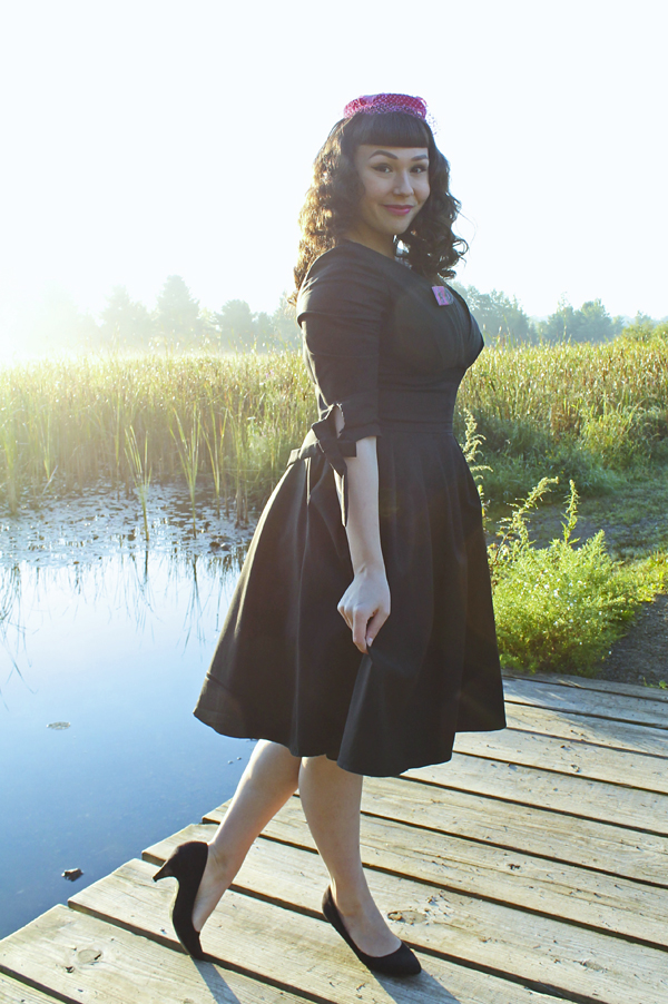 black unique vintage dress