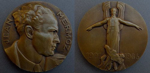 Art Deco Jean Mermoz Medal by Blin