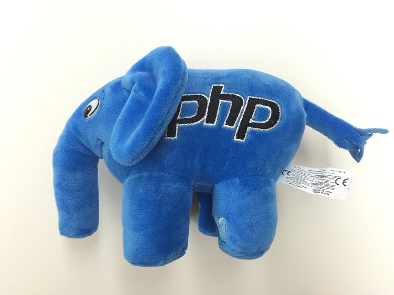 PHP ElePHPant (Blue) Plush Toy - Left