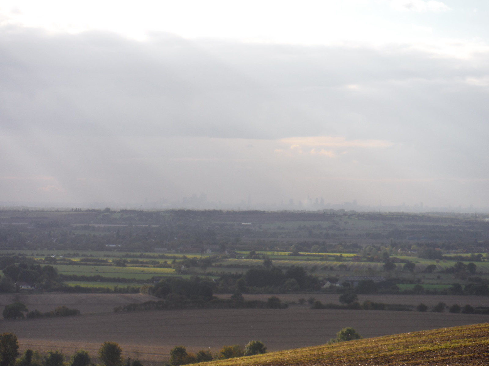 London Skyline on a hazy day SWC Walk 114 Laindon Circular