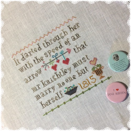 Jane Austen and Me by The Sampler Girl WIP 1