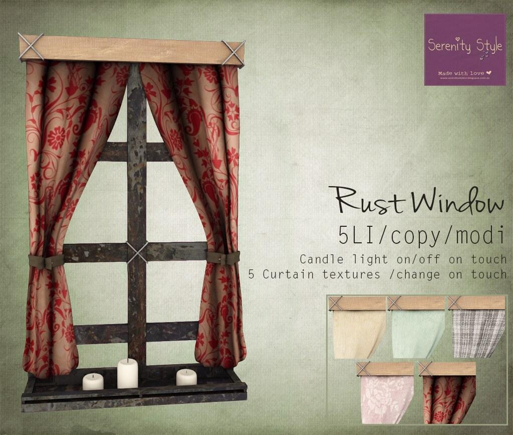 Serenity Style- Rust Window
