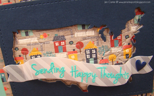 Jen Carter Sending Happy Thoughts USA Closeup
