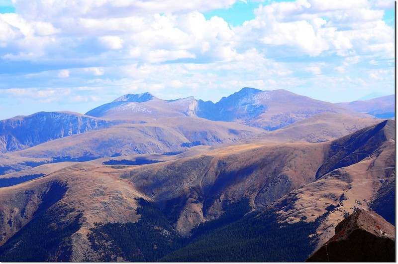 Mount Evans & Bierstadt as seen from Parnassus' summit