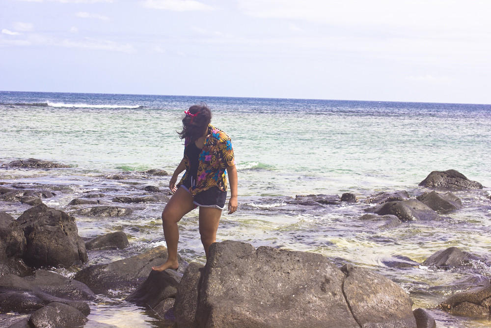 sea creatures ocean mauritius animal rock rockpool sand black fish eel laila volcanic rock