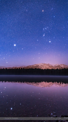 Orion over Lake Annette