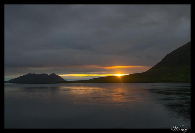 Fotografías del sol de medianoche en Vesturland - Fiordo Grundarfjördur