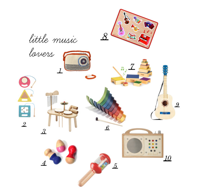 gift guide 2015: musical toys by Paul & Paula