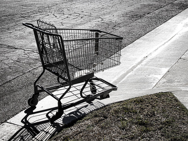 Abandoned grocery cart
