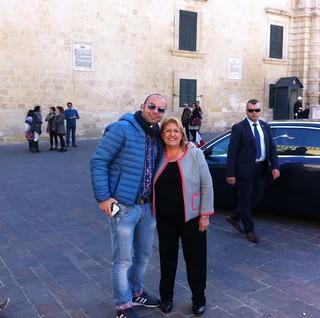 Conversano- Francesco Berlen incontra il Presidente della Repubblica di Malta