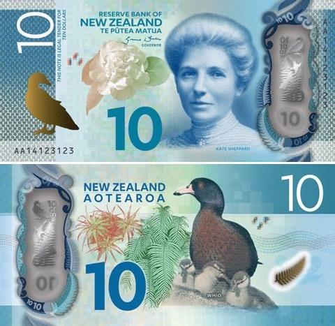 10 novozélandských dolárov Nový Zéland 2015, polymer